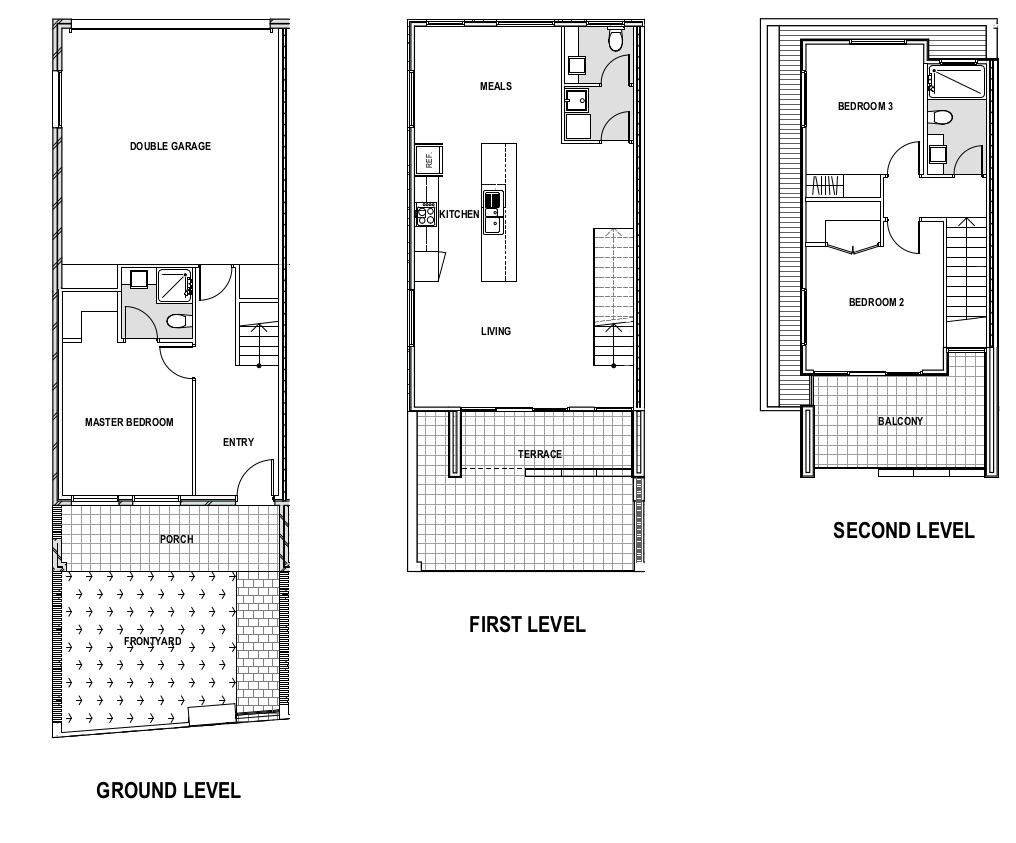 3 bedroom floorplans the one
