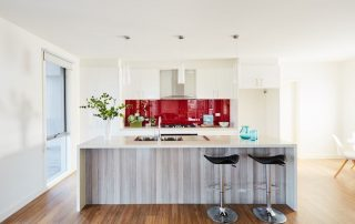 Kitchen island and splashback